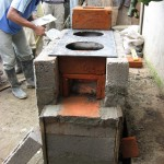 Placing the steel hot plate.